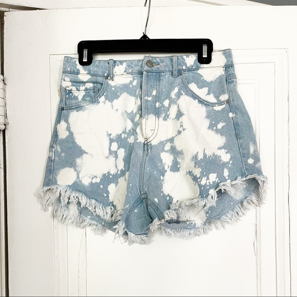 Wild Fable Distressed Bleach Splattered Shorts